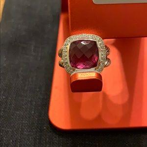 David Yurman pink tourmaline and diamond ring